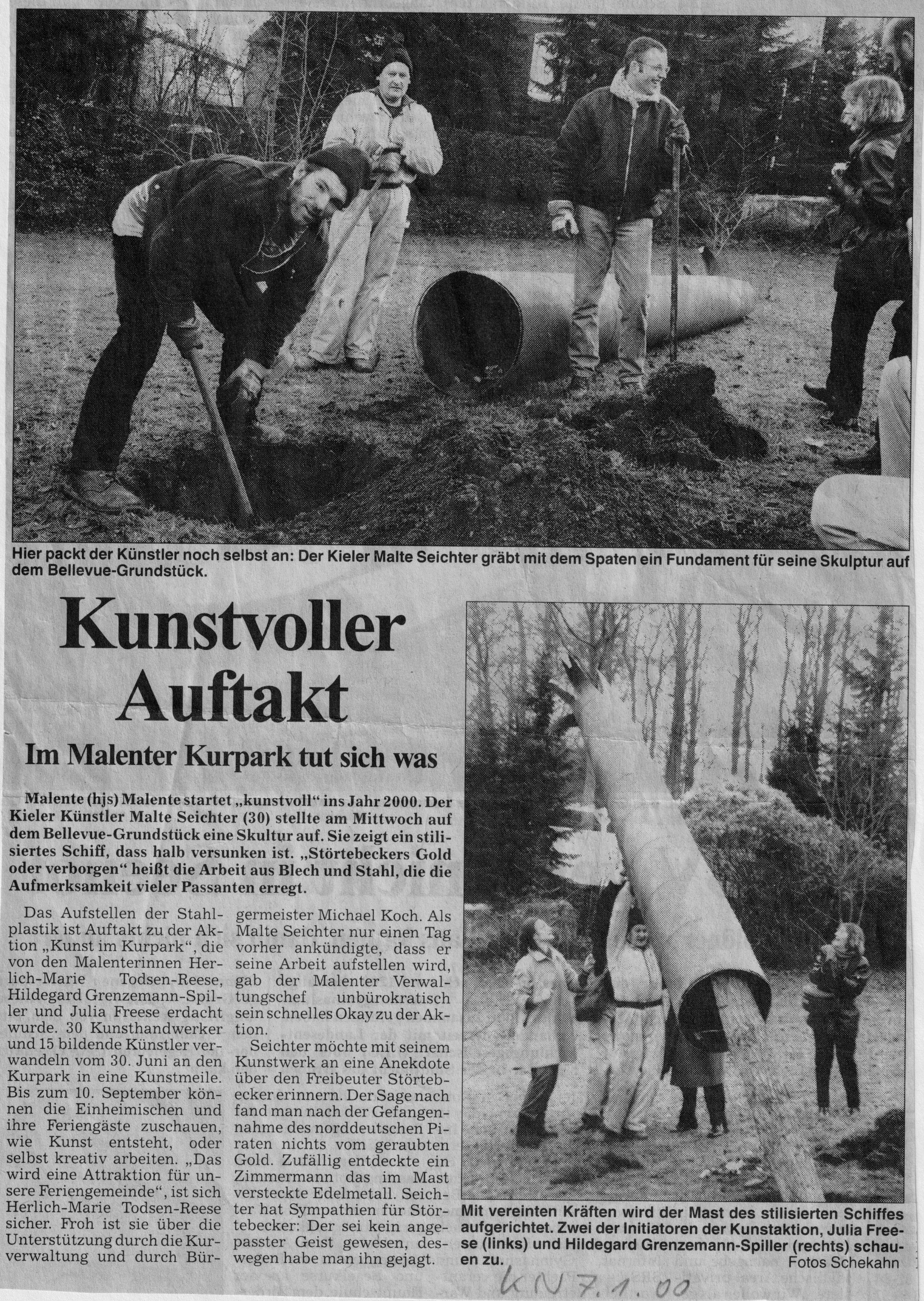 OHA 15.7.2000, Kunst im Kurpark